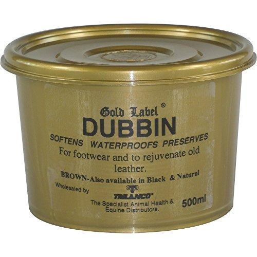 gold label dubbin brown 500g