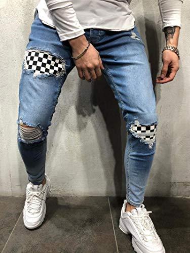 Jeans Vaqueros Pantalon Pantalones Vaqueros Rasgados Pantalones Lápiz Impresión De Mezclilla Pantalones...