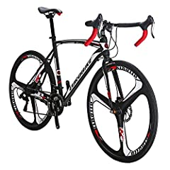 """700C Road bike with 21 Speed Shifting system and Dual Disc brake.49 cm and 54 cm frame size matches different group.Size of 49 cm Fits for 5'5""""to 5'7 .Size of 54 cm Fits up for 5'8"""" to 6' Please rotate the fork 180 degree before assemble front wheel,..."""