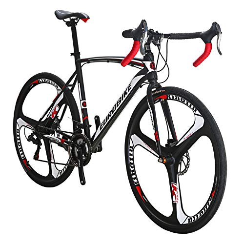 Eurobike Dual Disc Brake XC550 Road Bike 21 Speed Shifting System 54Cm Steel Frame 700C 3-Spoke Wheels Bicycle
