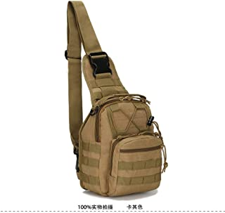LHSOO Bolsa de Alpinismo de Nailon para Deportes al Aire Libre portátil, Mochila de Pesca para Acampar de Senderismo, Bandolera, Cartera Militar