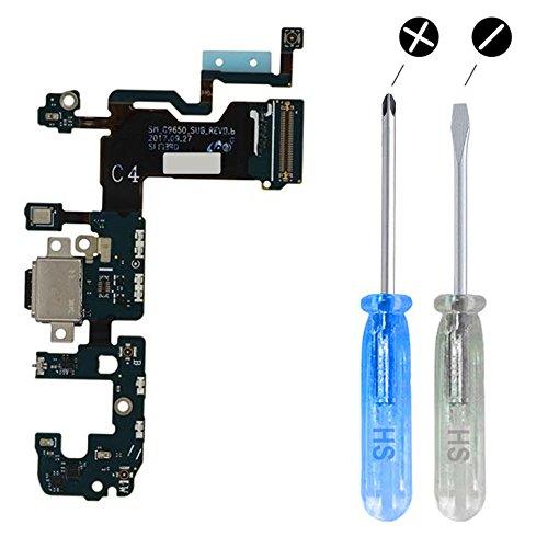 MMOBIEL Connettore Dock Compatibile con Samsung Galaxy S9 Plus G965F per caricare USB C Cavo Flessibile incl cacciaviti