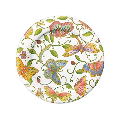 Entertaining with Caspari Tovaglioli da Cocktail, Confezione da 20 Pezzi, 12,7 cm, Motivo: Parvaneh's Garden, Multicolore, Multicolore, Salad Plate