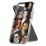 Phone Cover Case Compatible with iPhone Johnny Xs Depp 12 Sexy Mini Collage 8 6 7 Plus X Xr 11 Pro Max Se 2020 Waterproof Accessories Scratch