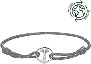 PAUL HEWITT Anker Armband Damen und Herren ReBrace - Segeltau Armband Unisex mit Anker Schmuck aus Edelstahl