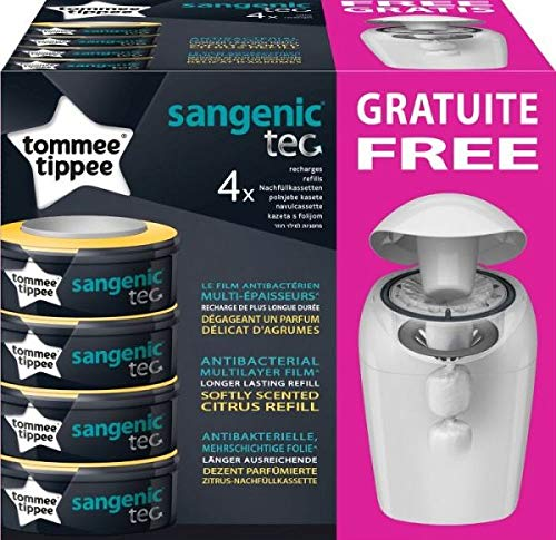 Contenitore per Pannolini Sangenic Hygiene Plus Tommee Tippee + 4 Ricariche Tec