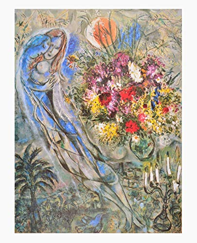 Germanposters Marc Chagall Les Amoureux en Gris Poster Kunstdruck Bild 60x48cm