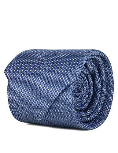 SCAPPINO Corbata Brera Unitalla con Diseño De Micropuntos Y Cuadros Azul Claro Unica