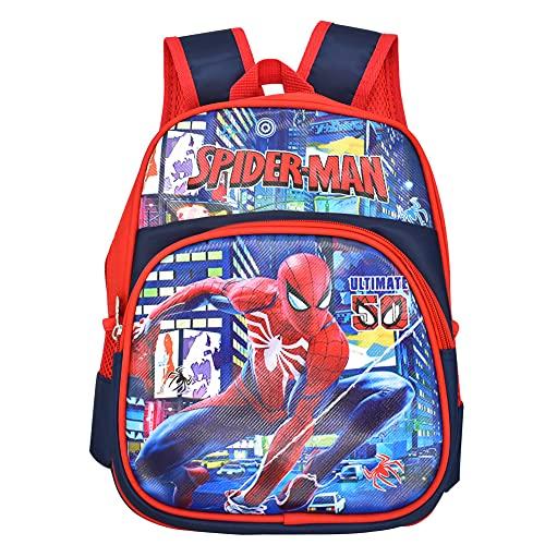 Nesloonp Cartable Spiderman 3D Spiderman Sac à Dos Enfants Spiderman Durable Réglable Maternelle Sac Scolaire Garçon Filles Livre Sac à Dos pour Sac de Sport Sac de Voyage Bleu