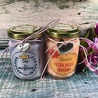 Ti voglio bene Mamma 2 vasetti con candele di cera di soia e oli essenziali Festa della Mamma Idea Regalo per la Mamma...