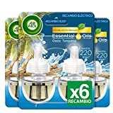 Air Wick Eléctrico - Recambios de ambientador, esencia para casa con aroma a Oasis Turquesa - pack de 6