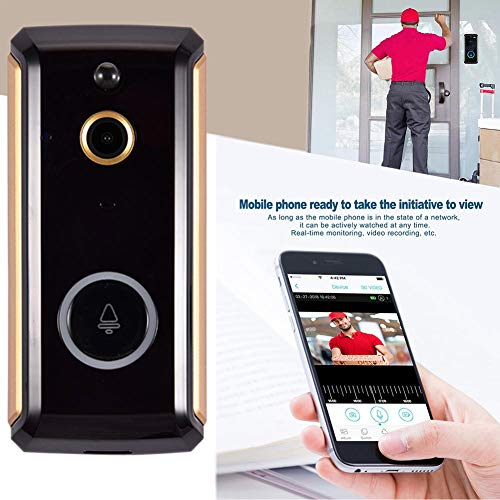 Video deurbel met camera, draadloze video-deurbelcamera met laag stroomverbruik, WiFi 1080P deurbel, bewakingscamera, cloud service 2-weg oproepen, voor mobiele herkenning voor iOS en Android