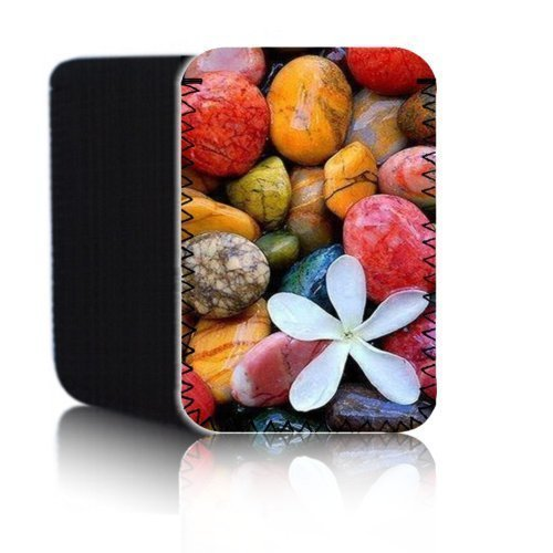 BIZEBEETAB 'Biz-E-Bee Farbige Steine 7' Neopren Tasche für ASUS Fonepad ME372CG 17,8cm Tablet Tasche–Stoßfest/wasserabweisend Neopren Abdeckung, Hülle, Tasche,–UK