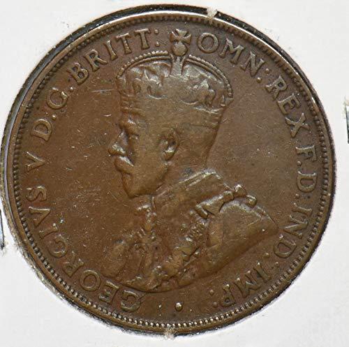1920 AU Australia 1920 Penny NO DOT AU0077 DE PO-01