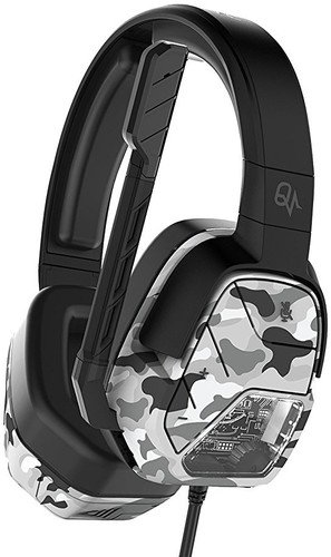 PDP - Auricular Stereo Afterglow LVL 5 Plus, Color Camo Blanco (Xbox One)