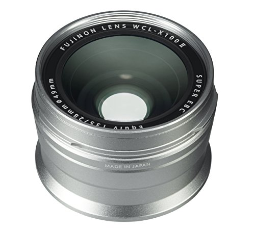Fujifilm Fujinon Wide Conversion Lens for X100 Series Camera, Silver (WCL-X100 S II)