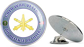 U.S. Army Cold War Air Defense Artillery Veteran Metal 0.75