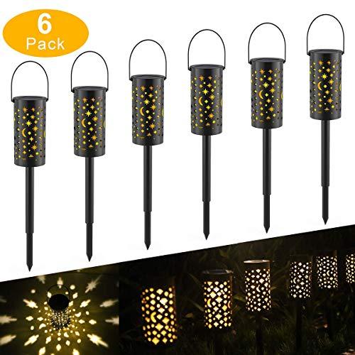 Lámparas Solares para Jardín,Tomshine 6 Piezas Luz Solar