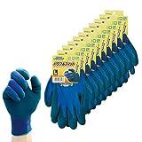 ダンロップホームプロダクツ 作業用手袋 L デジハンド パワフルフィット 10双セット ブルー 長さ約26.5cm 10双入