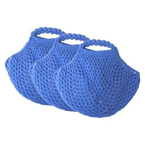 OLShop AG 3er Pack Mininetze Dederon blau
