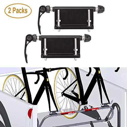 ALAVENTE Bicycle Quick-Release Alloy Fork Block Mounts Car Rack Carrier Holders for Car Pickup Bed 2 Pcs