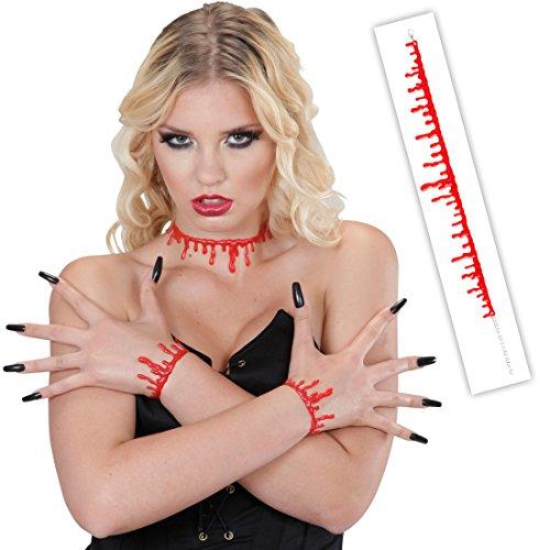 Collar con garganta abierta, para Halloween, con gotas de sangre y asesino zombi, accesorio para disfraz de carnaval
