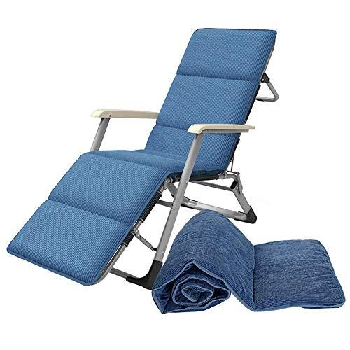 LWW Sillas, sillas tumbonas plegable de jardín, sillas de Altas Prestaciones gravedad cero sillón reclinable Patio al aire libre del césped con ajustable Almohada para acampar/Patio/Jardín/Beac