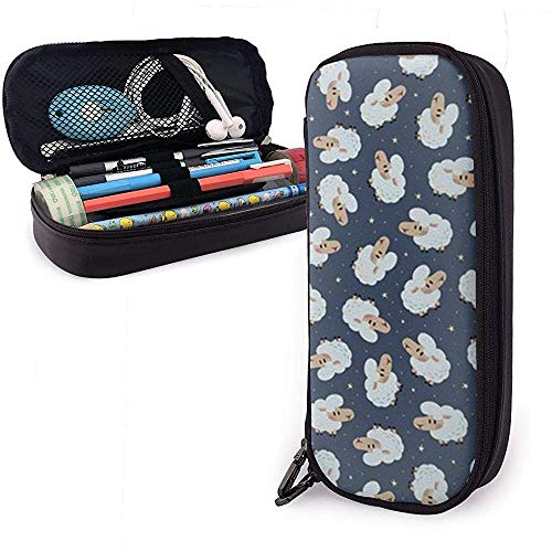 Nettes Schaf-Bleistiftetui Pencase Pouch-Beutel Schreibwaren-Organizer Kosmetische Make-up-Tasche