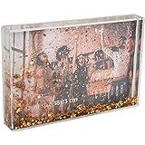 Fisura   Marco de Fotos con Purpurina Oro para 1 Foto de 10 x 15 cm, Transparente 2,2 x 10,5 x 15,5 cm