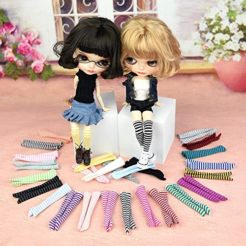 leoglint Blythe Doll Clothes, Stocking Socks Clothing for Blythe Doll 30 cm 1/6 Bjd Dolls Azone ICY Licca Doll 5 Pairs (Series 1)