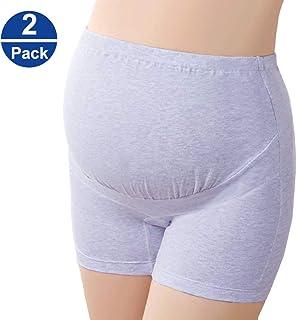 Women Underwear Maternity Pregnancy Adjustable Panties High Cut Brief Purple(2Pack)