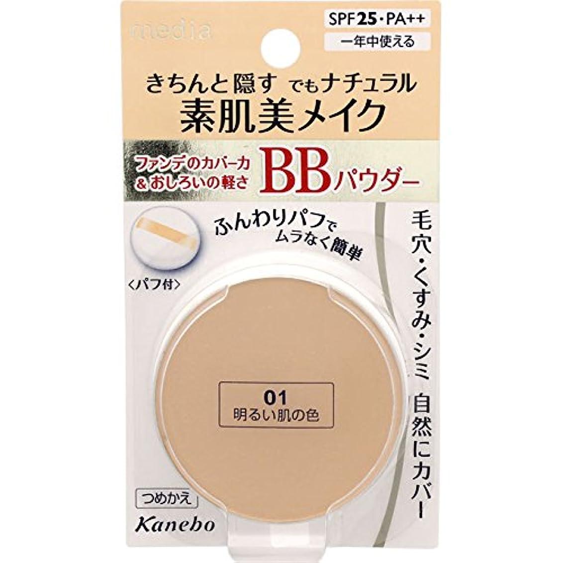 晩餐オーナーそのメディアBBパウダー01(明るい肌の色)×3