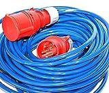 HILARK 5 x 2,5 mm2 H07BQ-F 50 m 400 V 16 A azul - Enrollador de...