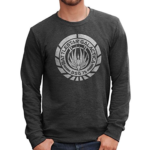 MUSH Felpa Girocollo Battlestar Galactica Logo