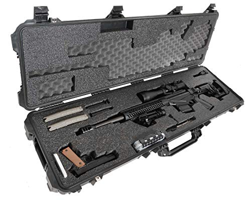 Case Club Precision Rifle Pre-Cut Waterproof Case with Accessory Box & Silica Gel to Help Prevent Gun Rust (Gen 2)