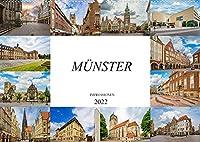 Muenster Impressionen (Wandkalender 2022 DIN A2 quer): Einmalig wunderschoene Bilder der Stadt Muenster (Monatskalender, 14 Seiten )