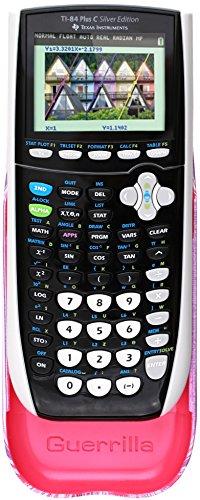 Guerrilla Hard Slide Case-Cover for TI-84 Plus, TI 84-Plus C Silver Edition, TI-89 Titanium Graphing Calculator, Pink Stripe Photo #7