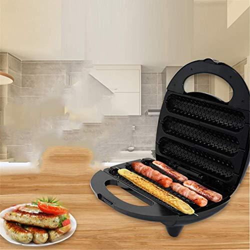 LXTIN Waffeleisen, Hot Dog Maschinen, Grillwurst Antihaftbeschichtung Deep Cooking Plates 750W