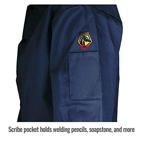 Product Image 5: Black Stallion FN9-30C 30″ 9oz. Navy FR Cotton Welding Jacket, Large