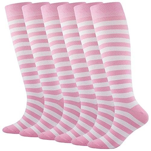 SUTTOS Womens Mens Soccer Socks Knee High Long Tube Socks Football Socks