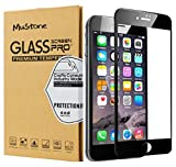 MuStone [2 Pack] Protectores de pantalla para iPhone 6 Plus 6s Plus, Protector de pantalla de cristal templado 3D Touch completo para iPhone 6 Plus 6s Plus Protectores de pantalla (5.5 ') (Negro)