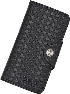 BeniMen's money bag long capacity multi-function small handbag vertical woven wallet-black