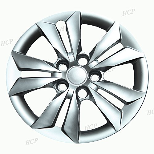 Overdrive Brands Silver 16  Bolt on Hub Cap Wheel Covers for Hyundai Sonata - Set of 4