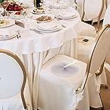 WeddingTree ® 60 x Handfächer Papier weiß faltbar – DIY- und Deko-Spaß für Groß und Klein – Gast-Geschenk Hochzeit Party Flamenco Bauch-Tanz - 7