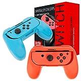 Orzly Grips (Poignées) Compatible avec Nintendo Switch Joy-Cons pour Plus De Confort - Twin Pack (1x Rouge - 1x Bleu) Compatible avec Joy-Con Droite ou Gauche pour Nintendo Switch.