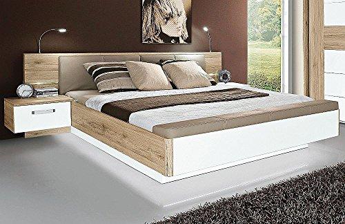 Wohnorama Jugendzimmer 180x200 Bettanlage Rondino mit Fußbank und Beleuchtung by
