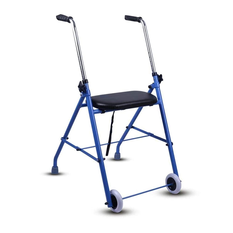 山申し立てられた拍手する調節可能な折り畳み式2ホイールローラー歩行器、パッド入りシート、人間工学に基づいたハンドル