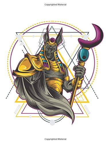 Anubis Warrior Geometric Sketchbook: Black Pages: Journal for Drawing, Painting, Sketching, Writing and Doodling 120 Pages 11' x 8.5'. Warrior Anubis ... for Athletes, Martial Arts, Fighter, Boxing,