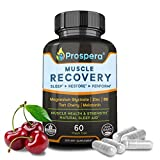 Prospera Muscle Recovery Magnesium Formula, Zinc for Immune Support, Magnesium Glycinate, Vitamin B6 Boost Workout Endurance, Tart Cherry to Aid Exercise Recovery, Melatonin as Sleep Aid, 60 Count