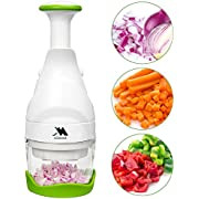 Onion Vegetable Fruit Salad Food Garlic Meat Chopper Dicer Cutter Stainless Steel Blades Manual Hand Chopper - Acodine